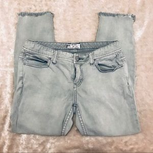 Free People distressed skinny jeans